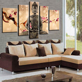 Hand Painted Bossom Cherry Flower Buddha Oil Painting Wall Art Canvas Prints 5