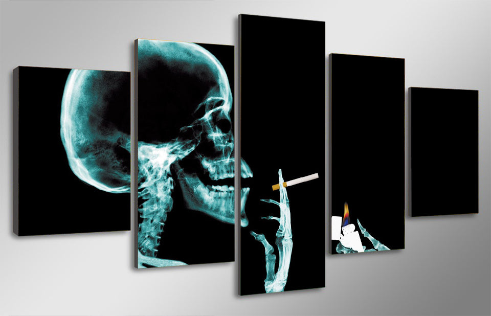 HD Printed Skull Art Painting Canvas Print Room Decor Print Poster Picture