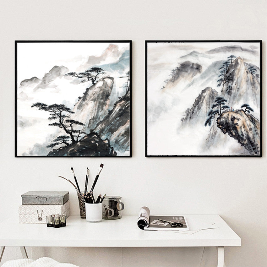 Vintage Chinese Landscape Paintings  Painting Style Canvas Art Home Decoration On Wall Canvas Prints