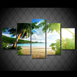 HD Printed Beach Palm Tree Group Painting Print Room Decor Print Poster Picture Canvas