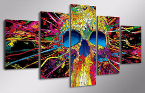 HD Printed 5 Piece Canvas Art Skull Skeleton Painting Wall Art