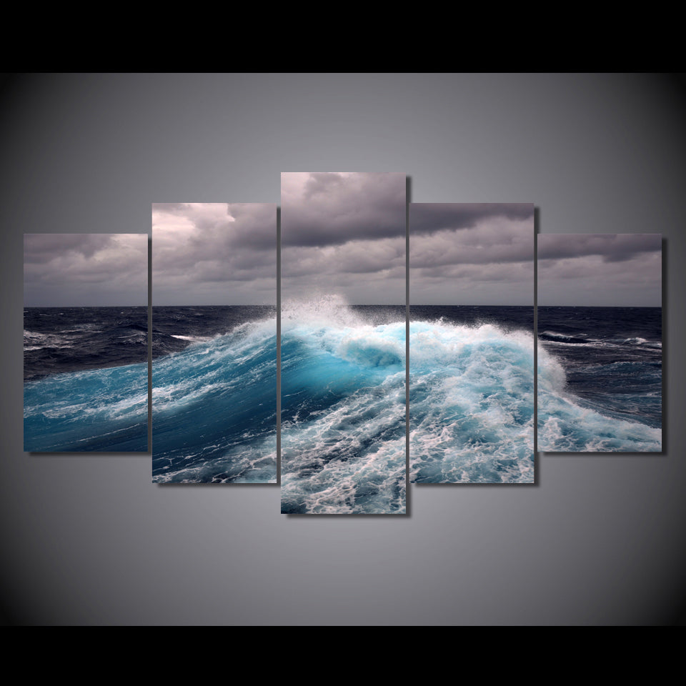 HD Printed Clouds Waves Painting Canvas Print Poster Picture Canvas
