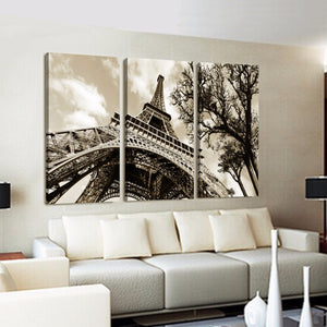 Wall art Modern Picture Canvas Painting Wall Pictures For Living Room Quadro Cuadros Decoration Paris City Eiffel Tower