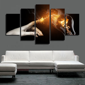 HD Printed Flame Shock Painting Canvas Print Room Decor Print Poster Picture