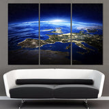 3 Panel Sunrise Space Universe Picture Painting Wall Decor Canvas Art Home Decor