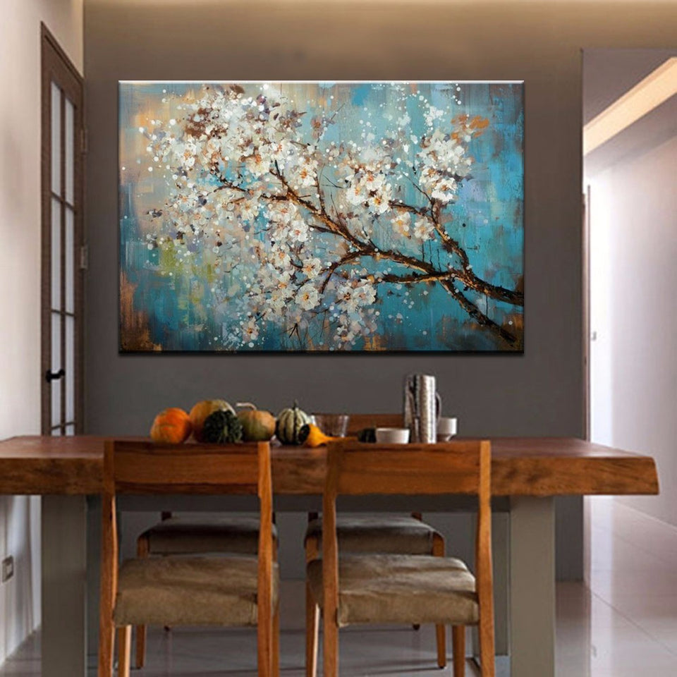 Handpainted Flowers Tree Abstract  Morden Oil Painting  On Canvas Wall Art Wall Pictures For Live Room Home Decor