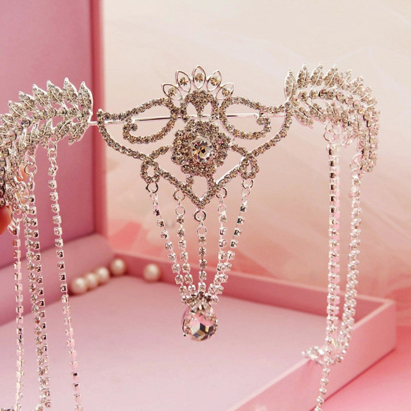 Headpiece Bridal Tiara Rhinestone Crystal Hair Crown Vintage Wedding Head Jewelry Accessories
