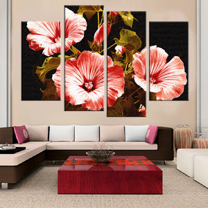 Canvas Painting Flower Print Modular Painting  Living Room Wall Pictures