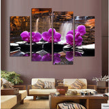 4 Pieces Orchid Flowers Large Canvas Art Cheap Canvas Painting Wall Pictures Canvas Prints