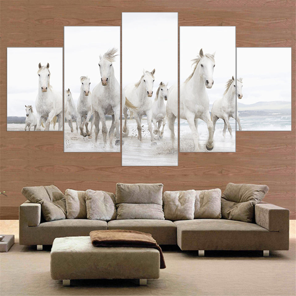 Horse Canvas Painting Animal Posters and Prints Wall Painting 5 Piece Canvas Art Wall Art Horse