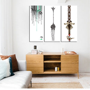 Abstract Deer Painting Mordern Wall Canvas Art Oil Painting Wall Pictures for Living Room Nordic