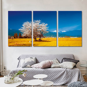 Tree Landscape Oil Painting Posters and Prints Modern Wall Art Canvas Pictures 3 Pieces
