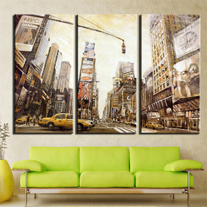 Oil Painting Print Art of Landscape Building Canvas Art Home Decoration Modular Picture Decor 3 Panels