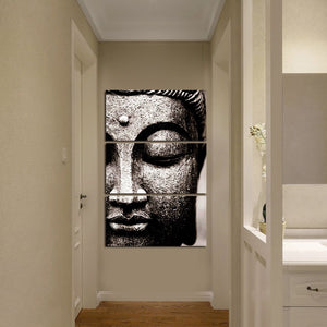 3 Panel Large Oil Style Buddha Wall Art Print on Canvas Decorations Wall Art