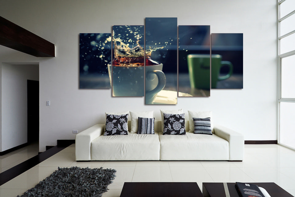 HD Printed Splash Painting On Canvas Room Decoration Print Poster Picture Canvas