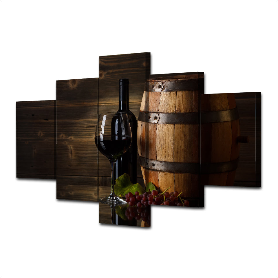 Canvas Art Printed Red Wine Glasses Print Room Decor Print Poster Picture Canvas