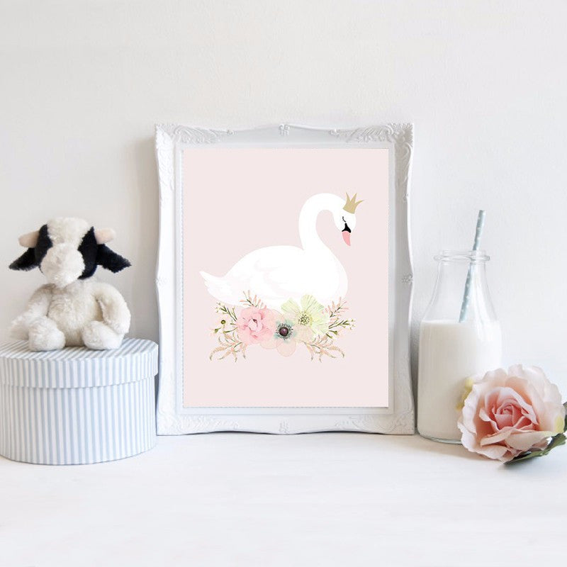 Wall Art Canvas Painting Canvas Art Nordic Decoration Wall Pictures Swan Posters