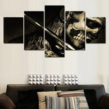 5 Piece Canvas Art Black Decoration Painting Wall Pictures Canvas Art Pictures