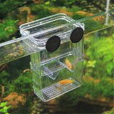 L Clear Fish Breeding Box Aquarium Breeder Box Double Guppies Hatching Incubator