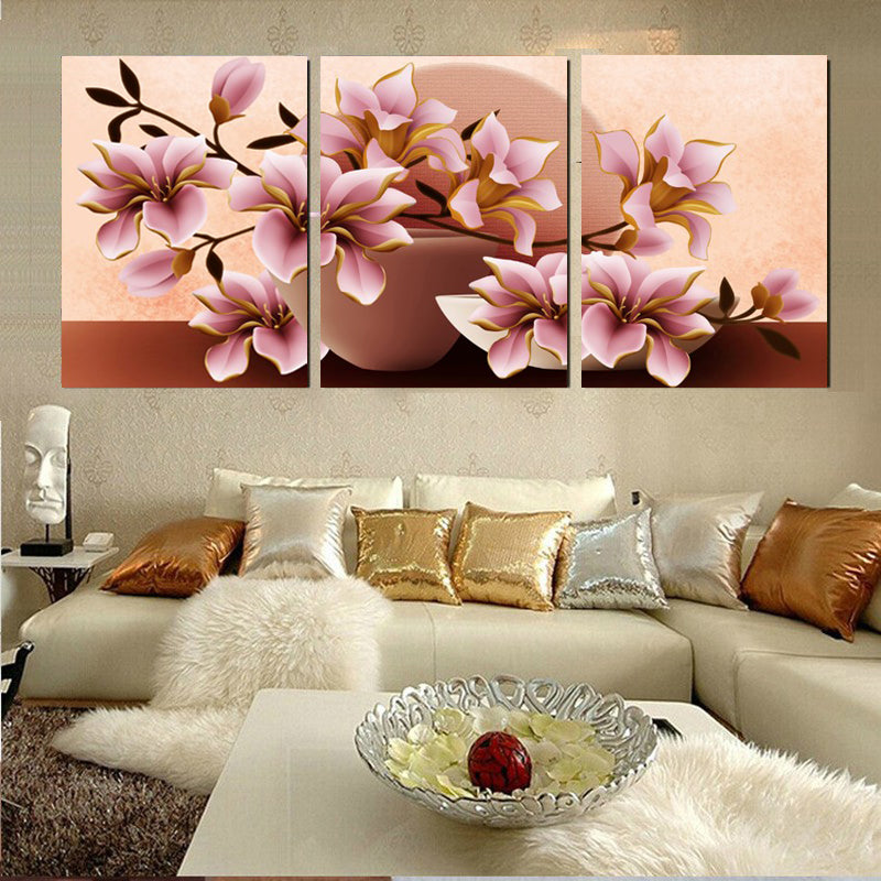 3 Piece Canvas Arts Modular Paintings Art Flower Print Home Decoration on The Wall Canvas Painting