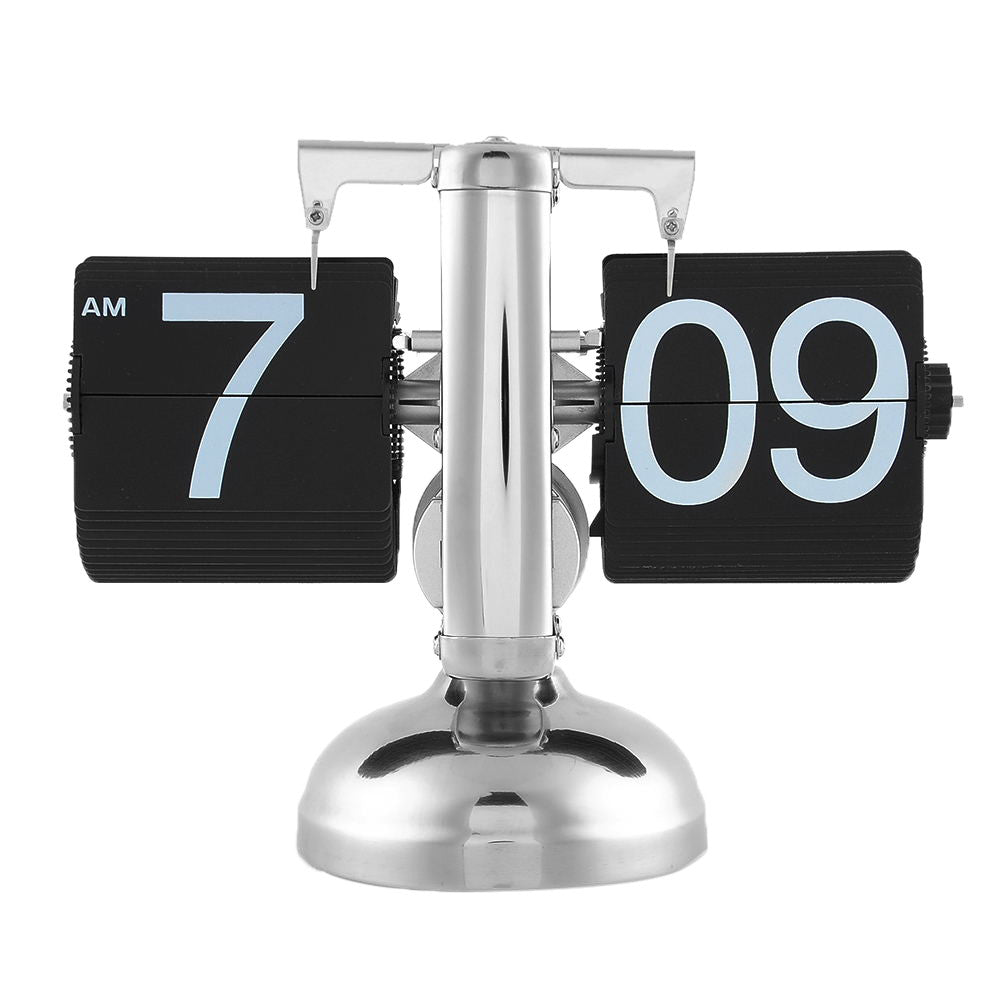 Retro Nice Desk Wall Auto Flip Clock Number  Simple Modern