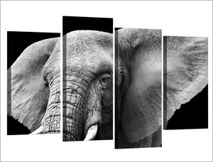 HD Printed Elephant Tusks Ears Ivory Painting On Canvas Room Decoration Print Poster Picture Canvas
