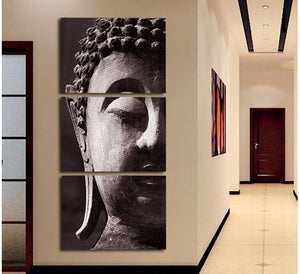 3 Panel Wall Art Buddha Oil Style Painting On Canvas Room Panels Decoration Art Print Picture