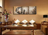 Antique Buddhism Oil Paintings 3 Pieces Canvas Prints Buddha Wall Picture Religion Decor