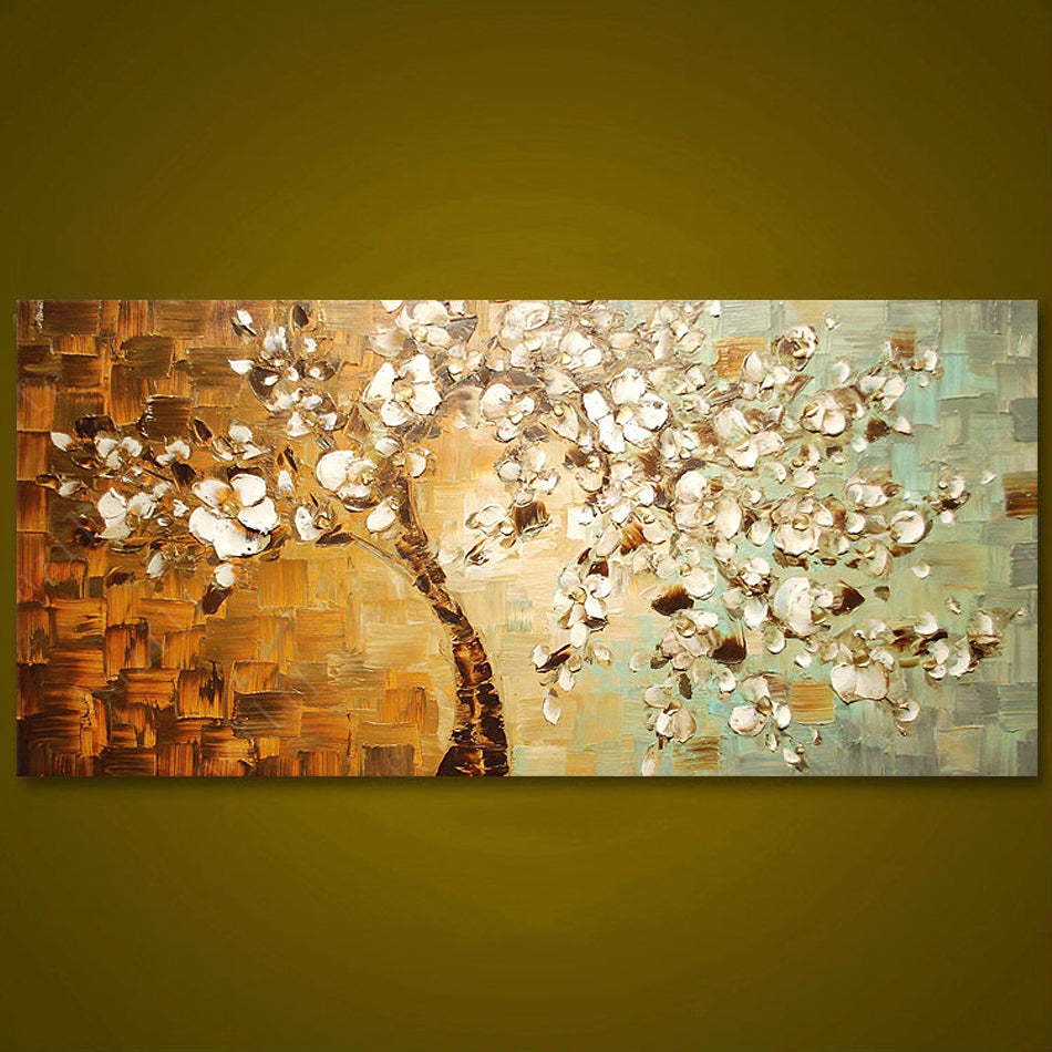 Frameless Panel Hand Painted Thick Palette Knife Painting Wall Art Picture Modern Abstract Canvas Large Oil Painting