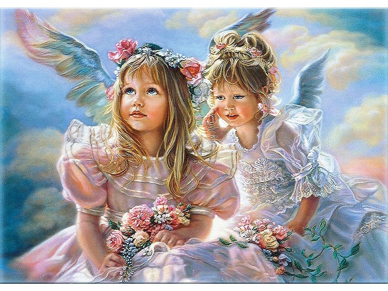 Angel Girls Wall Art Picture Diy Painting By Numbers Figure Painting Hand Painted Home Decor