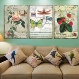 3 Panel Countryside Flower Canvas Painting HD Poster Canvas Art Oil Pictures Home Decor