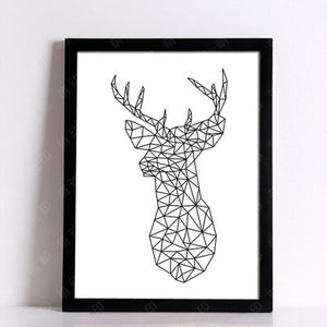 Geometric Deer Posters And Prints Wall Art Canvas Prints Wall Pictures Canvas Painting