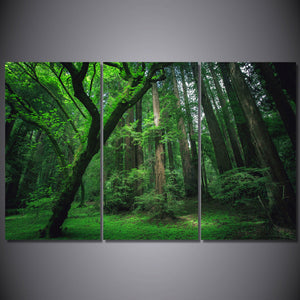 HD Printed Forest Green Tree Painting On Canvas Room Decoration Print Poster Picture
