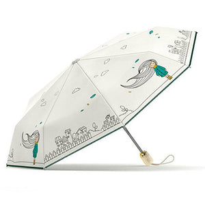 Folding Umbrella Rain Women Automatic Quality Waterproof Windproof Anti UV Girls