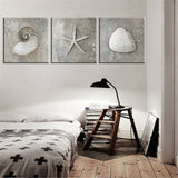 Grey Vintage Canvas Art Sea Shell Photo Prints Posters Gifts Canvas Paintings Home Living Room Wall Art