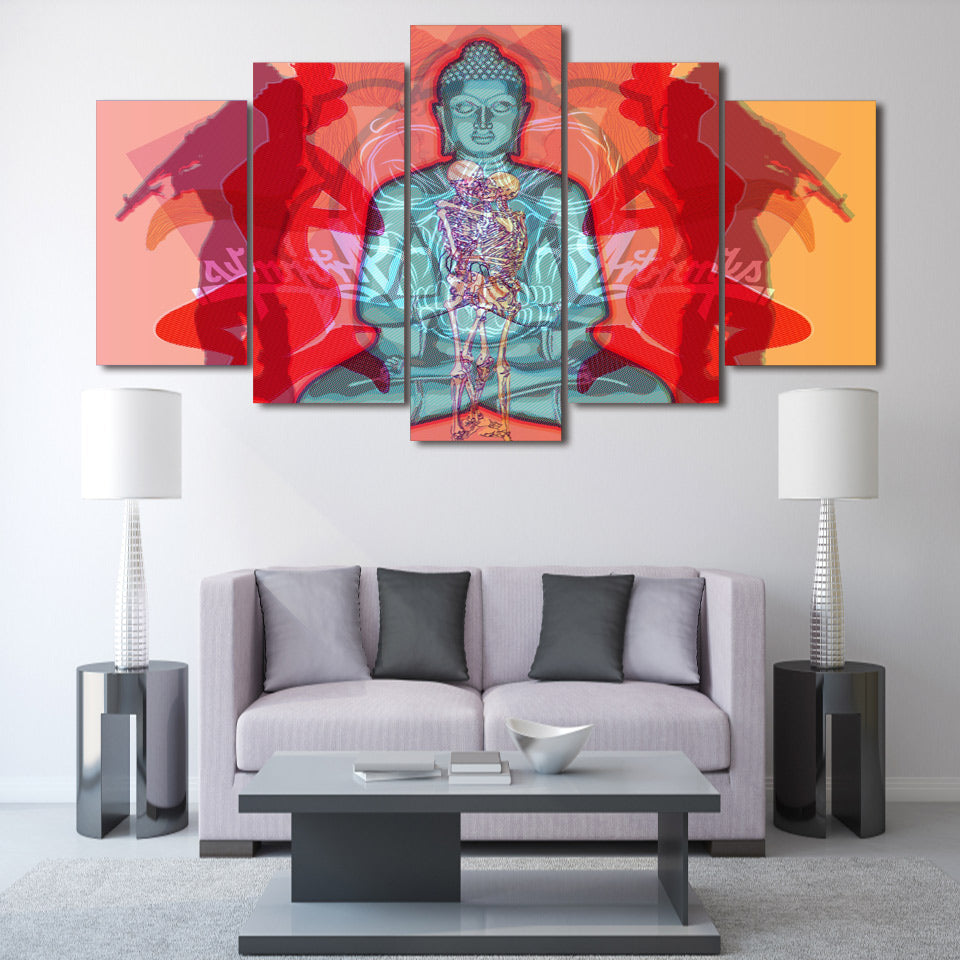 HD Printed Buddha Creative Painting Canvas Print Room Decor Print Poster Picture Canvas