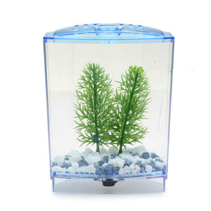 Acrylic Aquarium Single Betta Fish Bowl Fighting Fish Tank Small Aquarium Hatchery Box