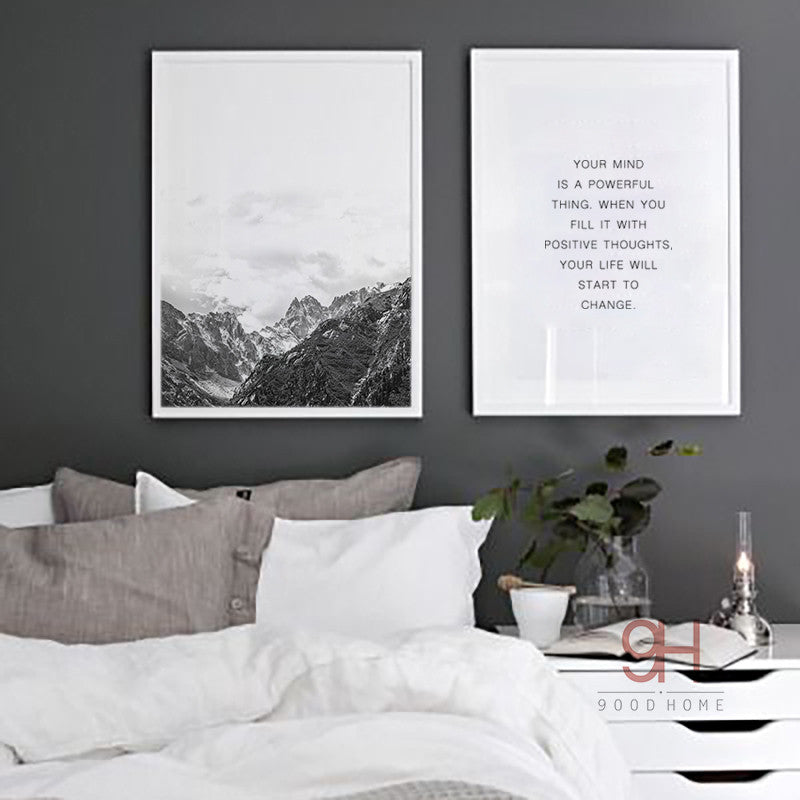 Nordic Style Mountain Canvas Art Print Painting Poster