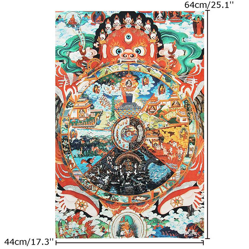 Tibet Embroidery Silk Cloth Samsara Amitabha Buddha Buddhas Thangka Thanka Tibetan Buddhist Decorative Painting