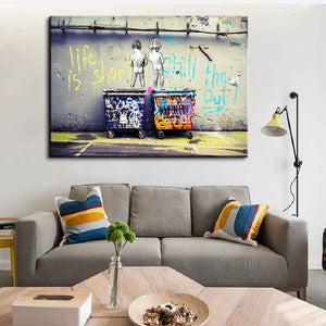 1 Pcs Size Art Life Is Short Chill The Duck Out Canvas Art Canvas Paintings