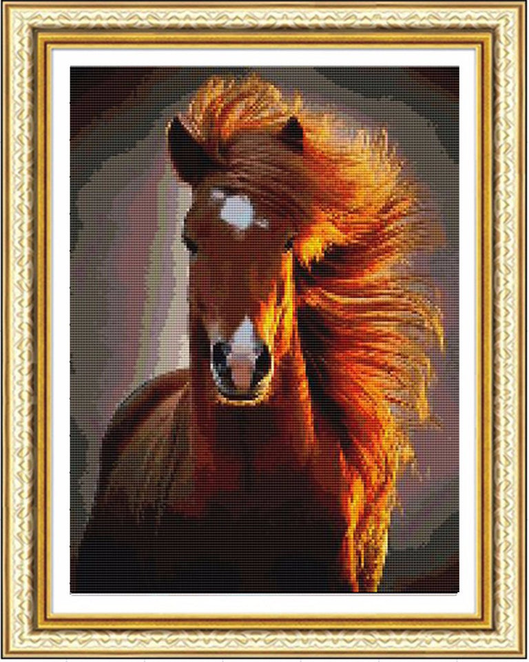 Diamond Painting Cross Stitch Kits Diy Diamond Embroidery Horse 3d Square Drill Diamond Mosaic