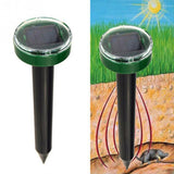 Repellent Solar Power Eco-Friendly Ultrasonic Pest Reject Gopher Mole Snake Repellent Mouse Trap