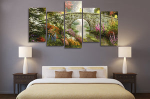 5 Pieces HD Printed Magic Nature Painting on Canvas Print Poster Picture Canvas