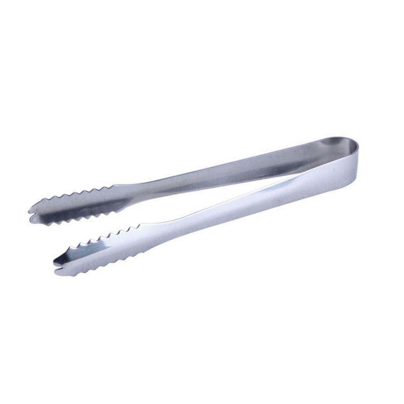 Ice Tongs Tool Bar Kitchen Accessories Stainless Steel Barbecue BBQ Clip Bread Food Ice Clamp