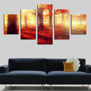 Canvas Art Painting Supplies Street Light Tree Oil Painting  Decorative Wall Pictures Coloring By Numbers