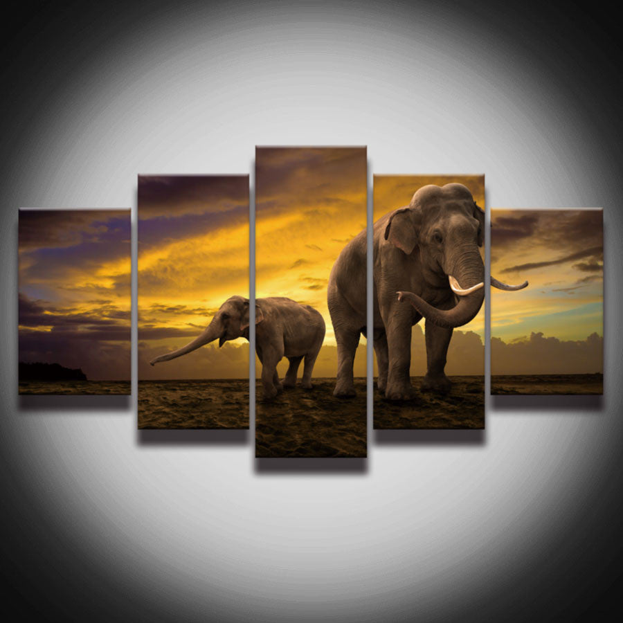 Printed African Elephant Canvas Art Paintings On The Wall Hot Wall Pictures