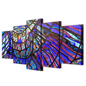 HD Printed Owl pattern 5 pieces Group Painting Canvas Print