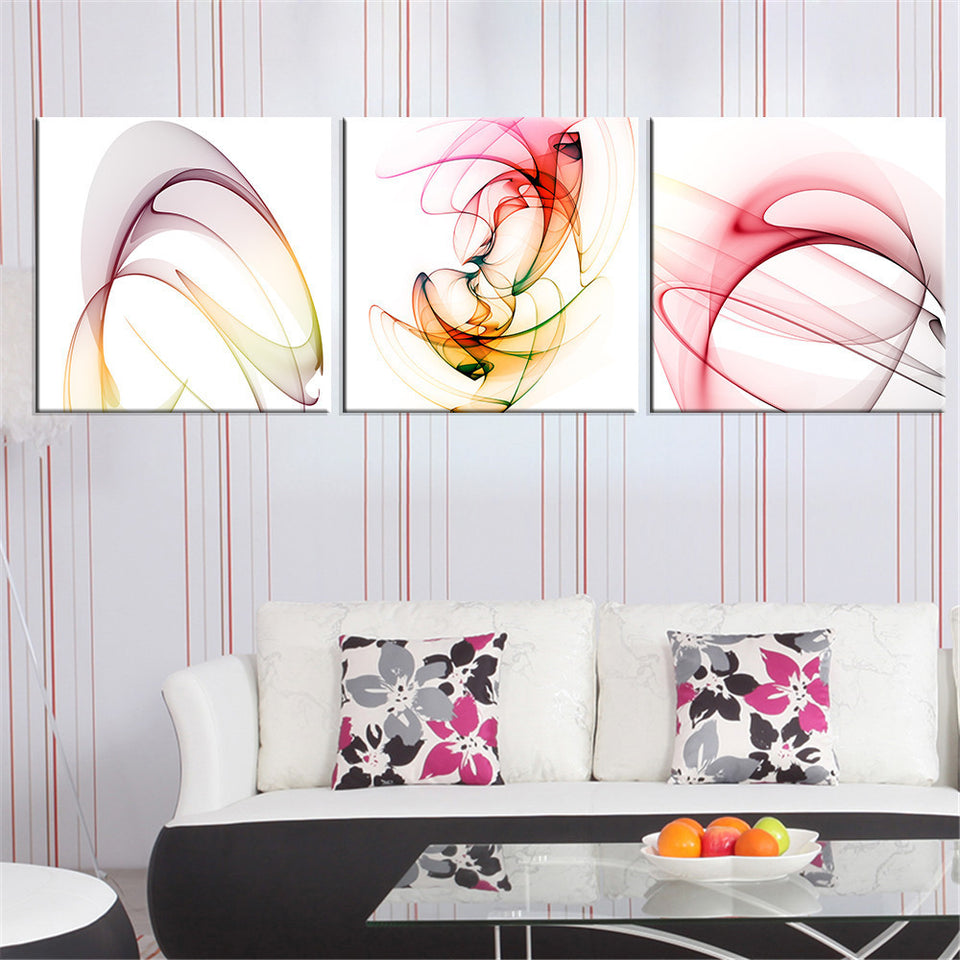 Abstract Pink Canvas Painting Modular Canvas Art Oil Picture Home Decor Wall Painting