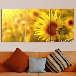 3 Piece Canvas Canvas Art Flower Oil Painting Flower Wall Art Prints Modular Picture
