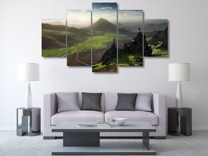 HD Printed Hiking Scenery Painting Canvas Print Print Poster Picture Canvas